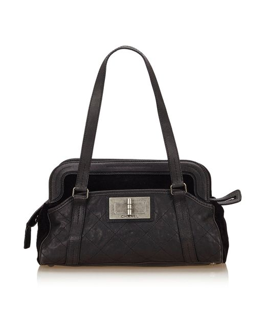 Chanel Black Caviar Leather Tote Shoulder Bag Gold Chain Cc 7c1c547278