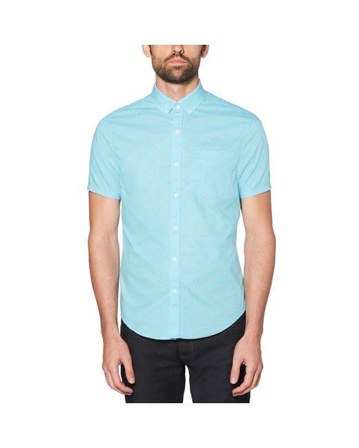 Original Penguin - Blue Sunrise Poplin Shirt for Men - Lyst