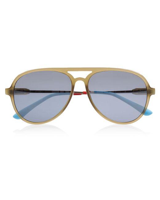 f6c172a0278 Orlebar Brown - Multicolor Aviator Sunglasses Khaki  Gun  Smoke Mirror   Riviera for Men ...