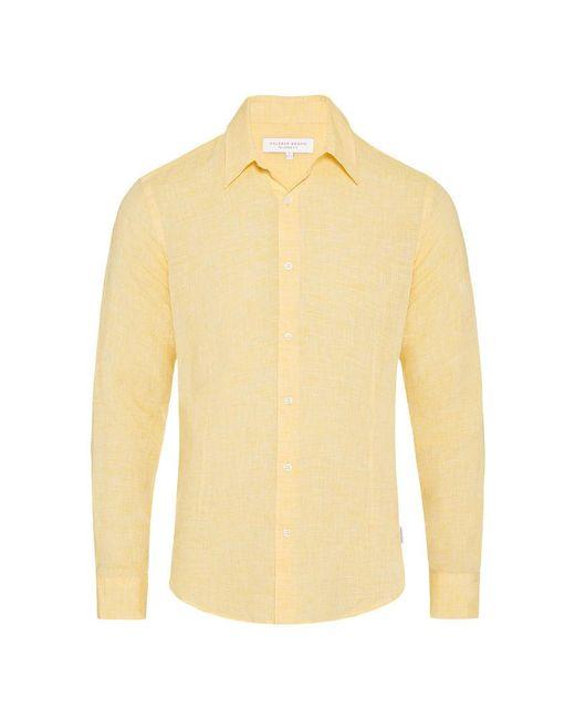 Orlebar Brown - Morton Linen Toucan Yellow Tailored-fit Linen Shirt for Men - Lyst