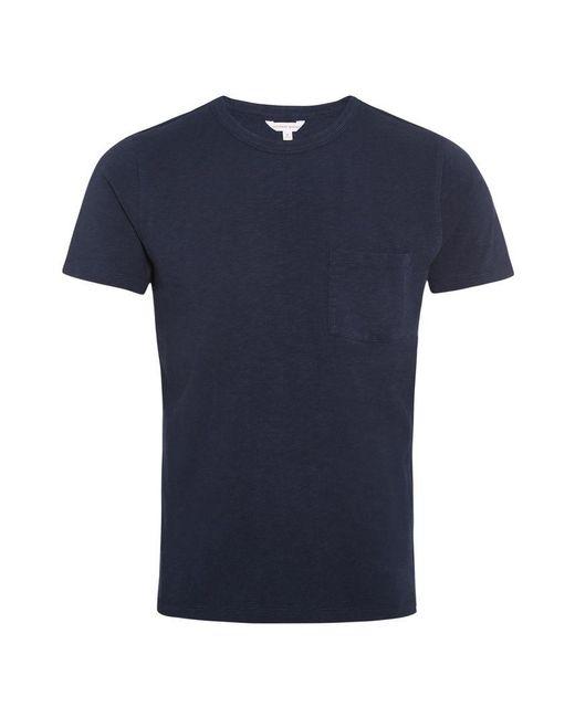 Orlebar Brown - Blue Sammy Heavyweight Navy Classic-fit T-shirt for Men - Lyst