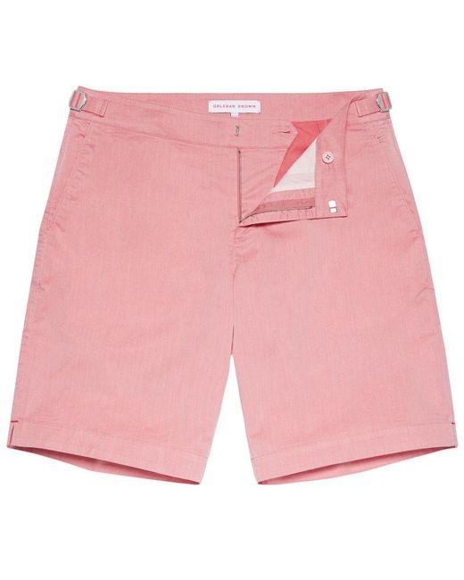 Orlebar Brown - Pink Dane Two Tone Raspberry Two Tone Longest-length Swim Shorts for Men - Lyst