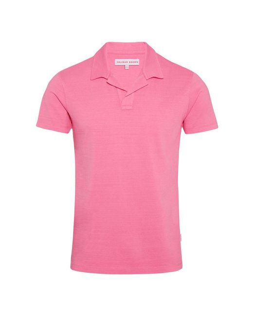 Orlebar Brown - Pink Felix Slub Light Paradise Resort Polo for Men - Lyst
