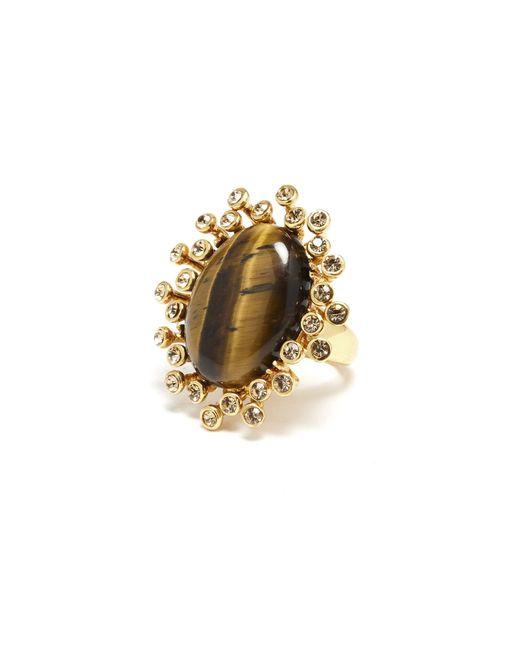 Oscar de la Renta - Metallic Ring - Lyst