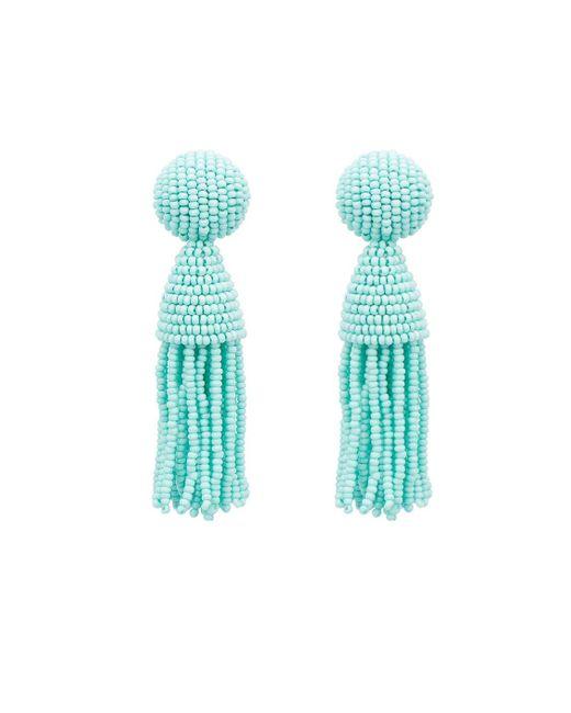 Oscar de la Renta | Blue Classic Short Tassel Earrings | Lyst