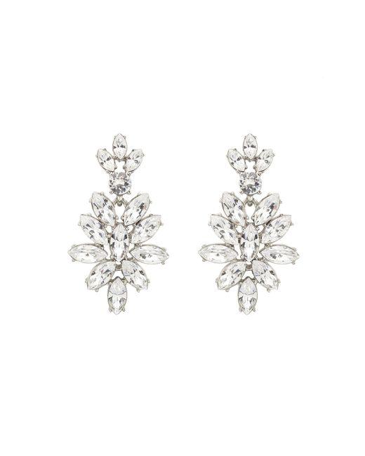 Oscar de la Renta | Metallic Swarovski Crystal Navette Drop Earrings | Lyst