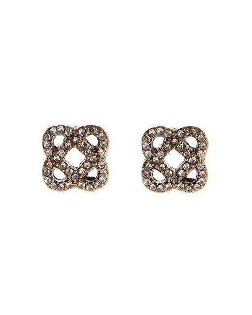 Oscar de la Renta | Metallic Pavé Mosaico Earrings | Lyst