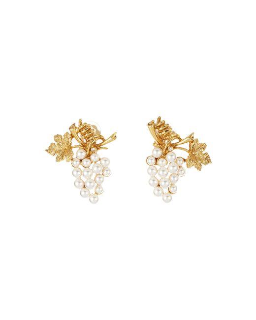 Oscar de la Renta - Metallic Pearl Grape Earrings - Lyst