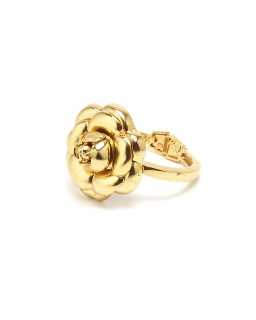 Oscar de la Renta - Metallic Gold Gardenia Cuff - Lyst