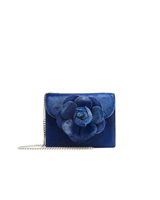 Oscar de la Renta - Blue Navy Pony Hair Mini Tro Bag - Lyst