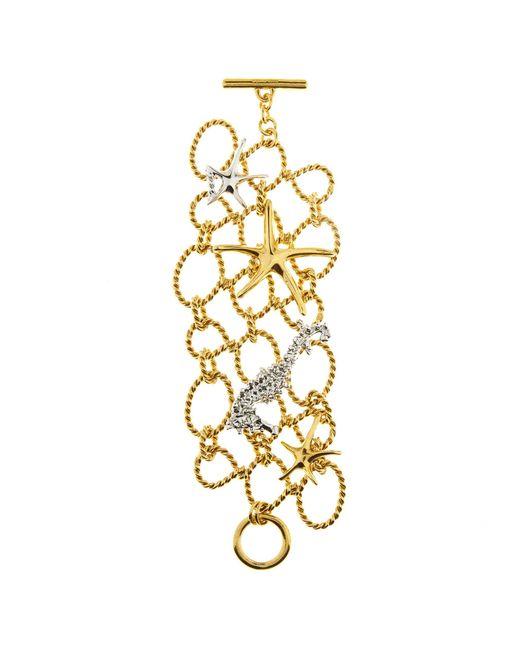 Oscar de la Renta - Metallic Fishnet Star Fish Bracelet - Lyst