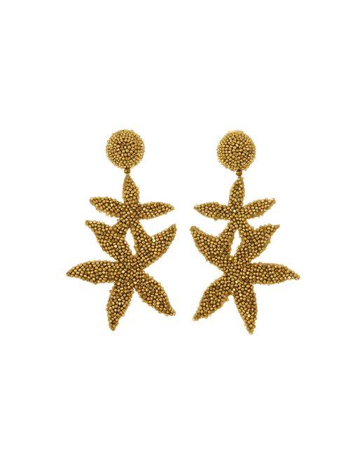 Oscar de la Renta - Metallic Gold Double Starfish Earrings - Lyst