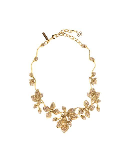 Oscar de la Renta | Metallic Cast Lace Necklace | Lyst