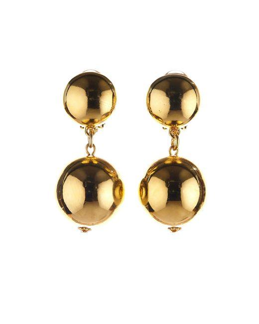 Oscar de la Renta | Metallic Bold Beaded Drop Earrings | Lyst