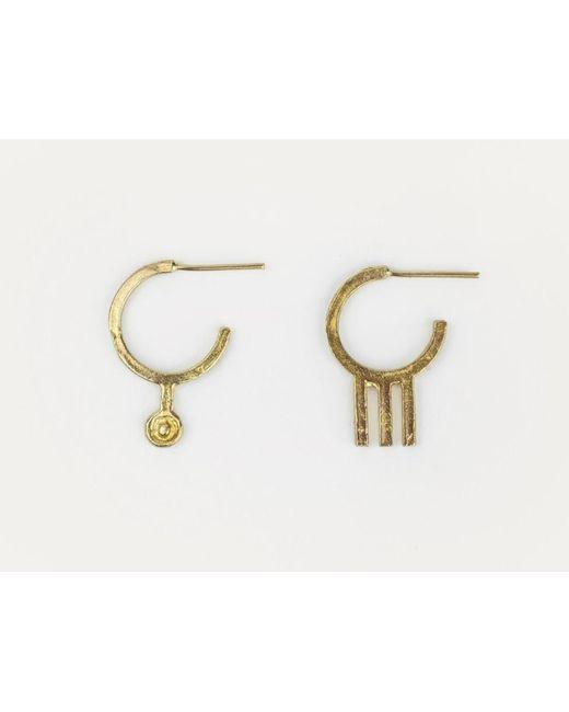 Mor | Metallic Tri Bronze Earrings | Lyst