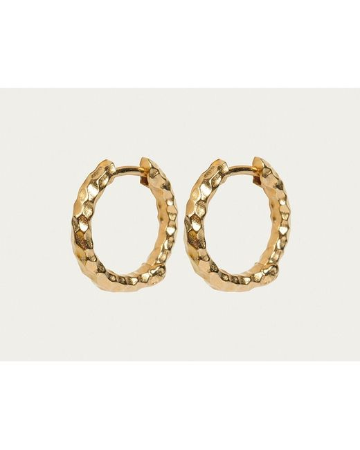 Davina Combe | Metallic Gold Huggie Hoops | Lyst