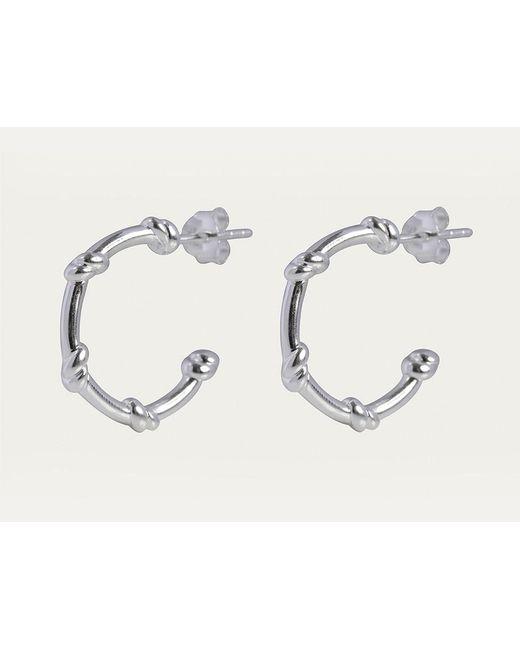 Davina Combe   Metallic Silver Knot Hoops   Lyst