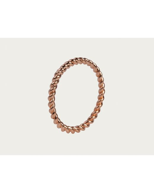 Davina Combe | Pink Rose Gold Twist Ring | Lyst