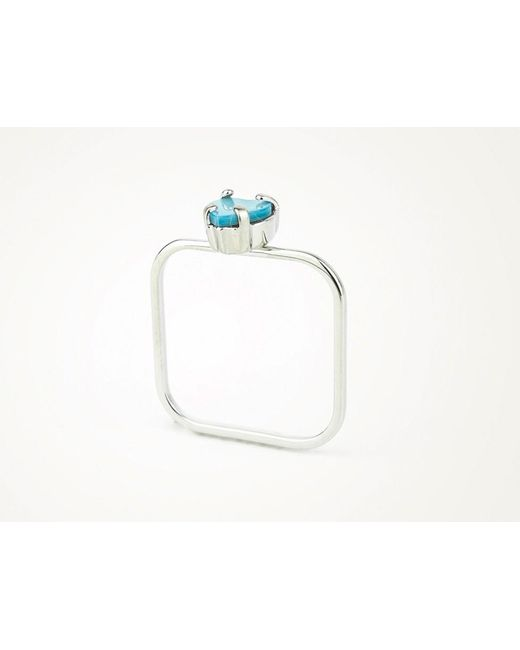 Sabrina Dehoff | Extra Superfine Ring With Pale Blue Heart | Lyst