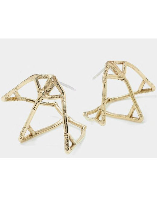 Odette New York | Metallic Atlas Cage Earrings | Lyst