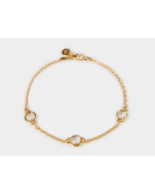 Davina Combe | Metallic Rock Crystal Knot Bracelet | Lyst