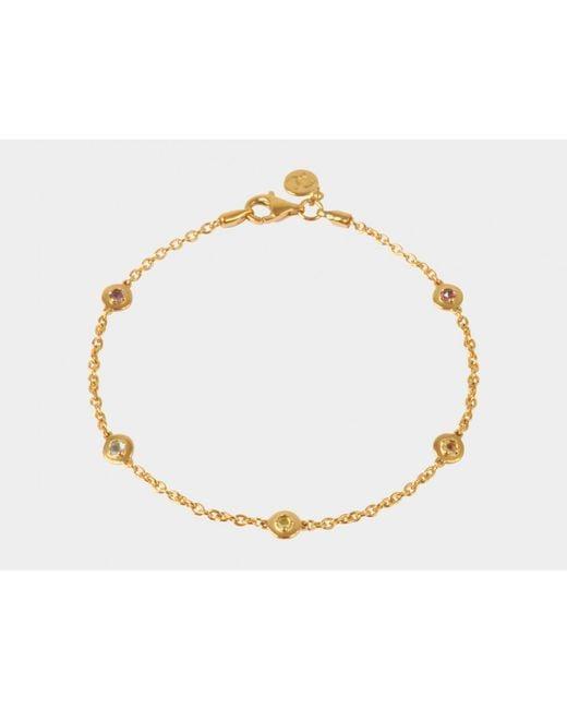 Davina Combe   Metallic Sienna Multi-stone Bracelet   Lyst