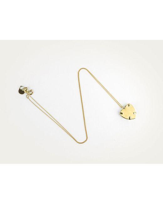 Sabrina Dehoff | Metallic Superfine Necklace With Gold Heart | Lyst