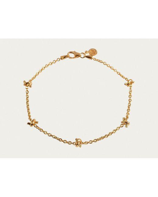 Davina Combe   Metallic Gold Knot Bracelet   Lyst