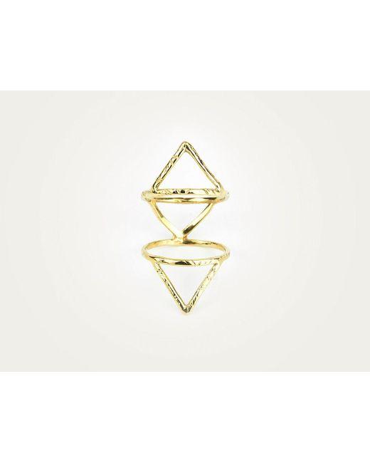 Odette New York | Metallic Klaia Cage Ring Brass | Lyst