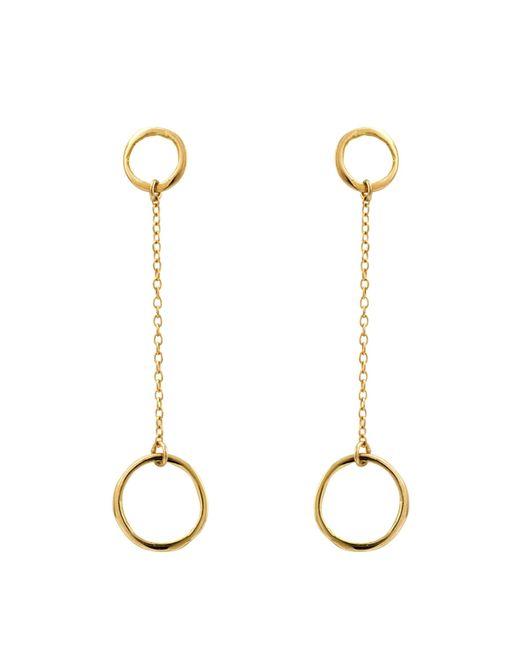 Satomi Kawakita | Metallic 18k Chain Hoop Earrings | Lyst