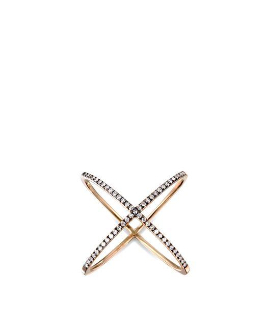 EF Collection | Metallic White Diamond X Ring | Lyst