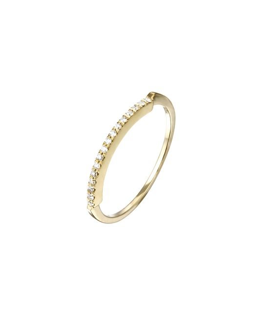 Mociun | Metallic Pave Diamond Ridge Ring | Lyst