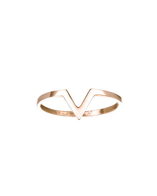 Zoe Chicco | Pink Plain V Ring | Lyst