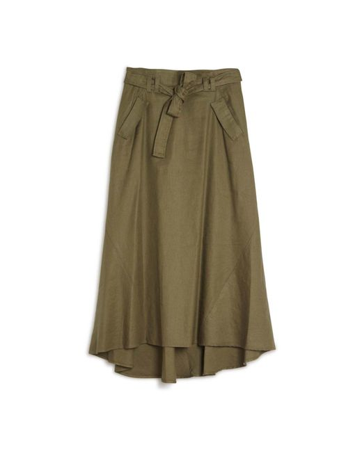 a l c jean cargo maxi skirt in green save 31
