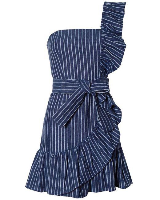 Alexis - Blue Konner Dress In Denim Stripes - Lyst