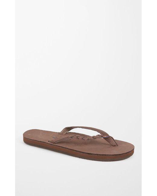 8c81e89f4bd7 Lyst - Rainbow Sandals Flirty Braidy Sandals in Brown - Save ...