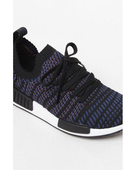 28ba2aa294934 ... Lyst Adidas - Women s Black Multi Nmd r1 Stlt Primeknit Sneakers ...