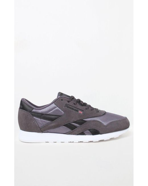 c7a4f1fa73ee5 Lyst - Reebok Classic Nylon Grey Shoes in Gray for Men - Save 9%