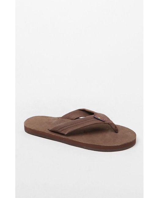 22b543004 Rainbow Sandals - Brown Leather Wide Strap Sandals - Lyst ...
