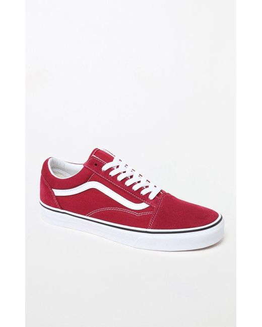 6d8bfef698 Lyst - Vans Red   White Old Skool Shoes in Red for Men