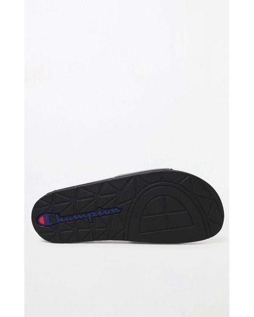 bfa5cf8c1e925 Lyst - Champion Black Logo Pool Slides in Black for Men - Save 66%