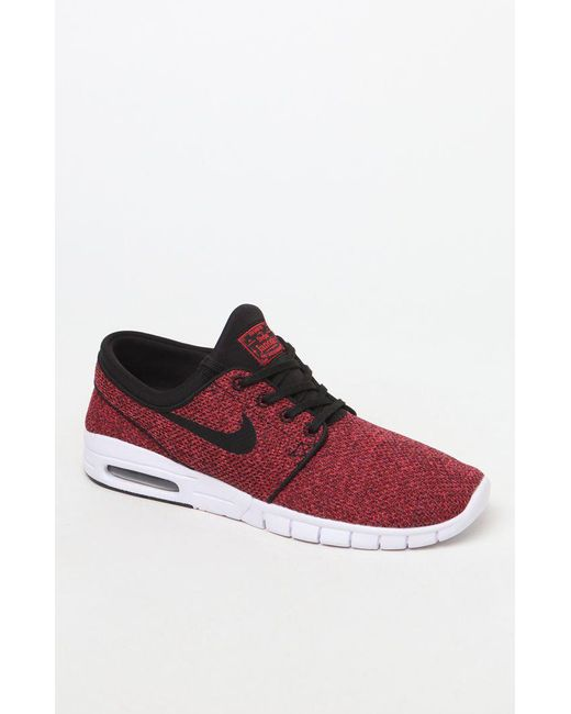 size 40 5256e 46c55 Nike - Stefan Janoski Max Black   Red Shoes for Men - Lyst ...