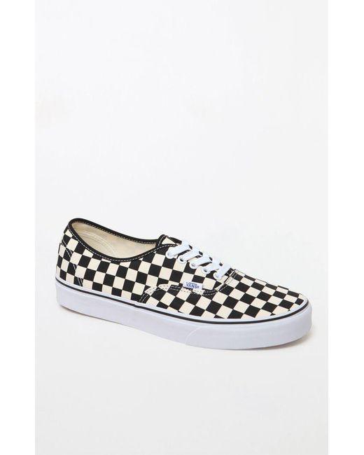 c70d7940b60167 Vans - White Golden Coast Authentic Checkerboard Shoes for Men - Lyst ...