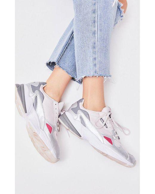 official photos 7a5c5 e4160 Adidas - Women s Pink Falcon Sneakers ...