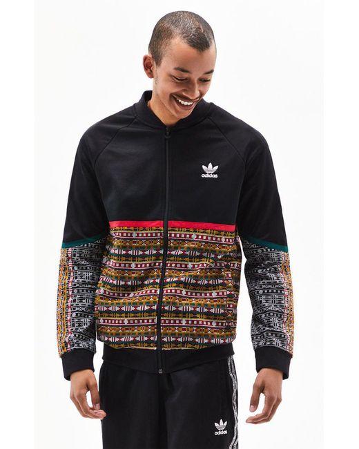 3546170006 Adidas - Black X Pharrell Williams Solar Hu Track Jacket for Men - Lyst ...