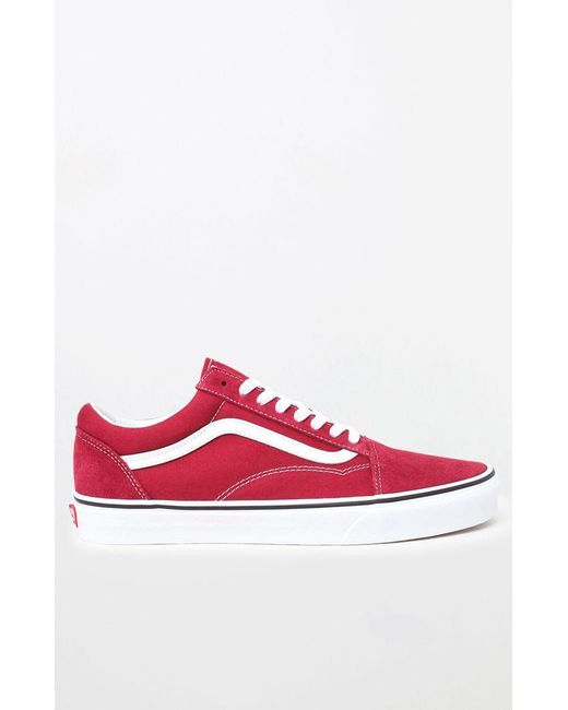 eb5b7ce970 ... Lyst Vans - Red   White Old Skool Shoes for Men ...