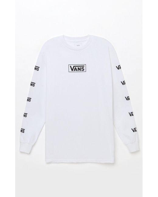 587d3a374d7bb5 Vans - White Multi V Long Sleeve T-shirt for Men - Lyst ...