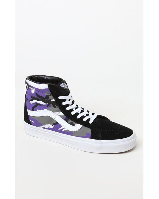 b110637944f049 Lyst - Vans Pop Camo Sk8-hi Reissue Shoes in Purple for Men - Save 9%
