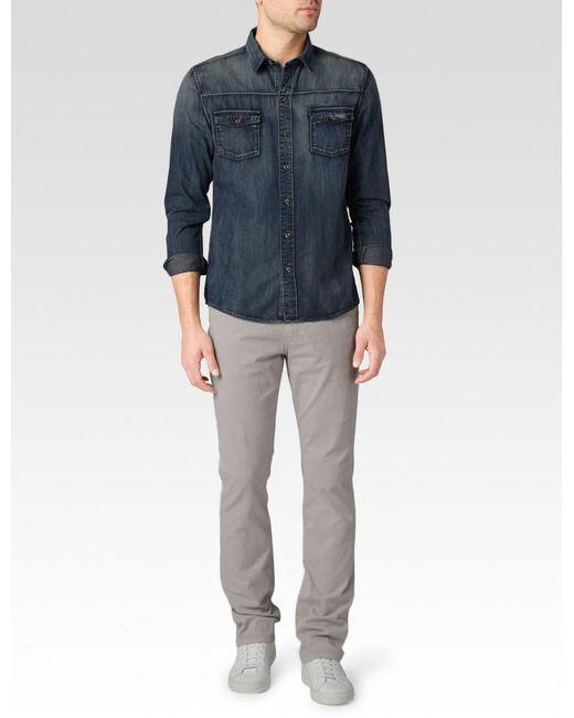 PAIGE - Blue Hunter Shirt for Men - Lyst