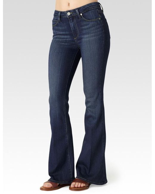 PAIGE - Blue Petite High Rise Bell Canyon - Lyst